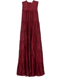 N°21 Pleated Maxi Gown - Red