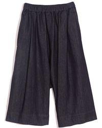 N°21 Wide Culotte Shorts - Blue