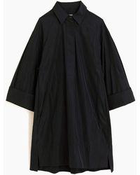 ODEEH A-line Button Up Dress - Black