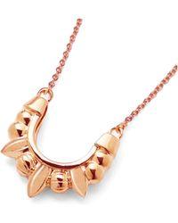 Pamela Love - Mini Spike Pendant In Rose Gold - Lyst