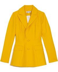 Dice Kayek Patch Pocket Blazer - Yellow