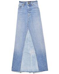 Khaite Magdalena Denim Midi Skirt - Blue