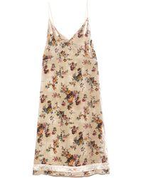 R13 Back Tie Slip Dress With Hem Detail - Natural