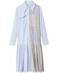 Tibi - Collage Stripe Shirting Colorblock Shirt Dress - Lyst