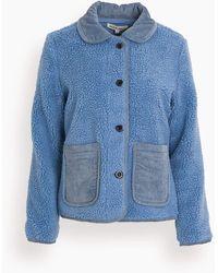 Alex Mill Sherpa Fleece Jacket - Blue