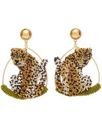 Mignonne Gavigan Leopard Swing Earring - Metallic