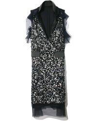 Sacai Spangle Embroidery Dress - Black
