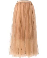 Dorothee Schumacher - Sensitive Transparency Layered Skirt In Muted Hazelnut - Lyst