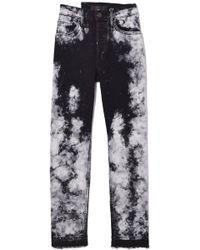 3x1 - W3 Higher Ground Crop Jean In Kuro Marble - Lyst