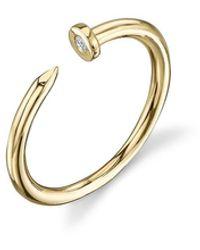 Sydney Evan Nail Ring - Metallic