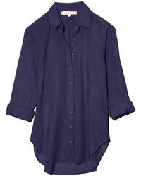 Xirena Beau Shirt In Navy - Blue