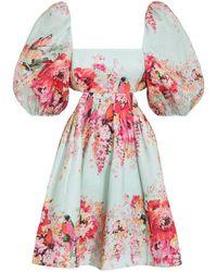 Zimmermann Mae Cut Out Mini Dress - Multicolour