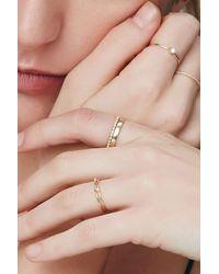 Otiumberg White Sapphire Half Eternity Ring - Multicolor