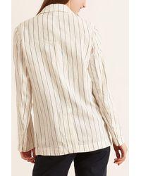 Aspesi Striped Linen Blazer - Natural