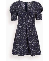 Ciao Lucia Tatiana Printed Silk Twill Dress - Blue
