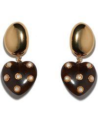 Lizzie Fortunato - Amore Earrings In Pearl - Lyst