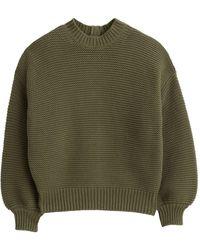 Alex Mill Button-back Crewneck Sweater - Green
