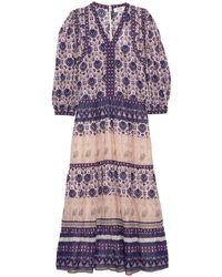 Sea Brigitte Border Maxi Dress - Purple