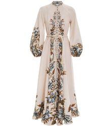 Zimmermann Aliane Billow Long Dress - Natural