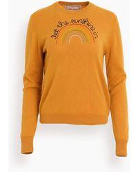 Lingua Franca Let The Sunshine In Crewneck - Orange