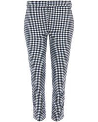 Tibi - Gingham Beatle Cropped Trousers In Gingham Multi - Lyst