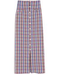 Rosie Assoulin Button Down Pencil Skirt - Multicolour