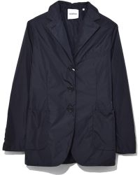 Aspesi - Nylon Water Repellent Jacket In Blue - Lyst