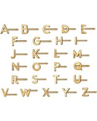 Otiumberg - Alphabet Studs In Gold - Lyst