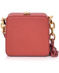 the VOLON - Brick Cube Chain Bag - Lyst