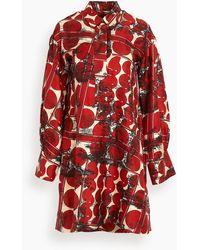 ODEEH Button Up Dress - Red
