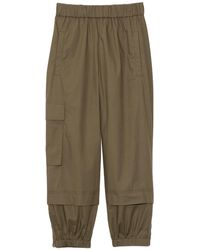 Tibi Vintage Cotton Pull On Jogger - Natural