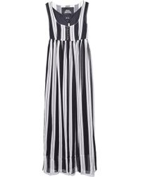 Marc Jacobs Scoop Neck Empire Waist Dress In Black/ivory