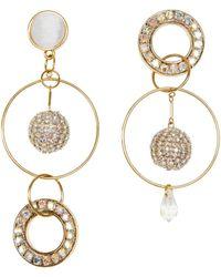 Mignonne Gavigan Crystal Mika Mismatched Earring - Multicolour