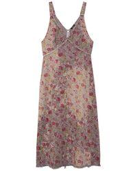 R13 Bleached Grunge Slip Dress - Multicolour