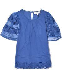 Sea - Zinnia Short Sleeve Top In Blue - Lyst