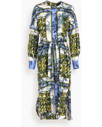 ODEEH Belted Dress - Blue