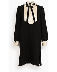 Dice Kayek Tuxedo Shift Dress - Black