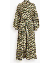 ODEEH Graphic Bouquet Dress - Multicolour