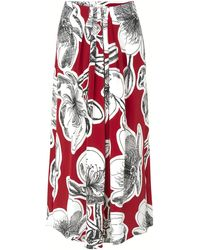 Stine Goya Blossom Skirt In Jasmine Dahlia - Red