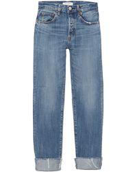 Moussy Paramus Straight Jean - Blue