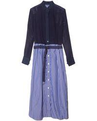 Sacai Cotton Poplin Dress - Blue