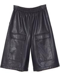 Tibi Vegan Leather Relaxed Long Short - Multicolour