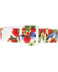 Carolina Herrera Pixel Floral Belt - Multicolor