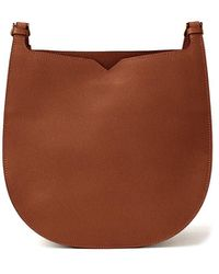 Valextra Hobo Weekend Medium Bag - Brown