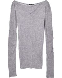Jérôme Dreyfuss - Madison Long Sleeve In Heather Grey - Lyst