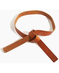 Forte Forte Washed Leather String Belt - Brown