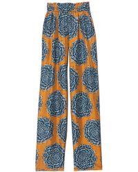 ODEEH Wide Leg Pants - Blue