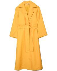 Emilia Wickstead Leia Coat - Yellow