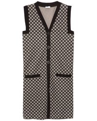 Rosetta Getty Vest Houndstooth Dress - Black