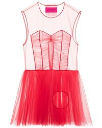Viktor & Rolf Dress With Hole In Red